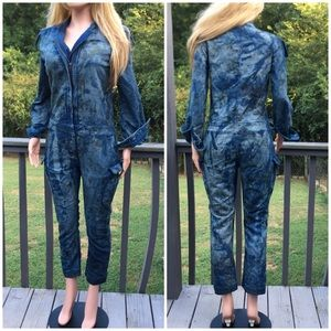 NWOT Anthropologie splatter coveralls jumpsuit